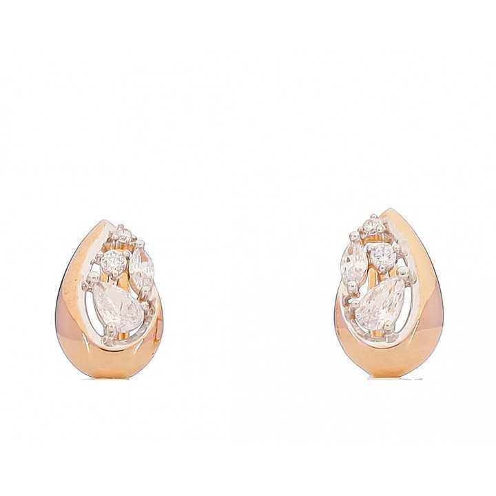Auksiniai auskarai 00473 - Auksiniai auskarai - Goldinga