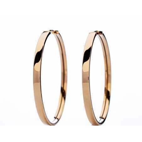 Auksiniai auskarai rinkutės 36mm - Auksiniai auskarai - Goldinga