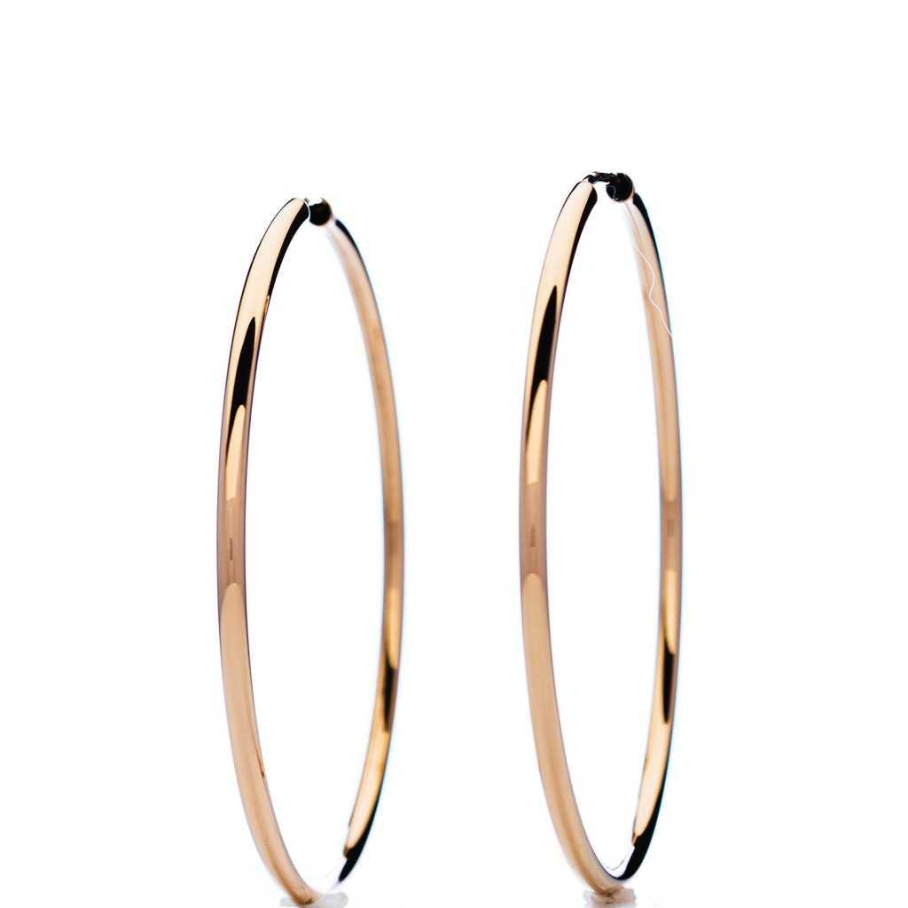 Auksiniai auskarai rinkutės 45mm - Auksiniai auskarai - Goldinga