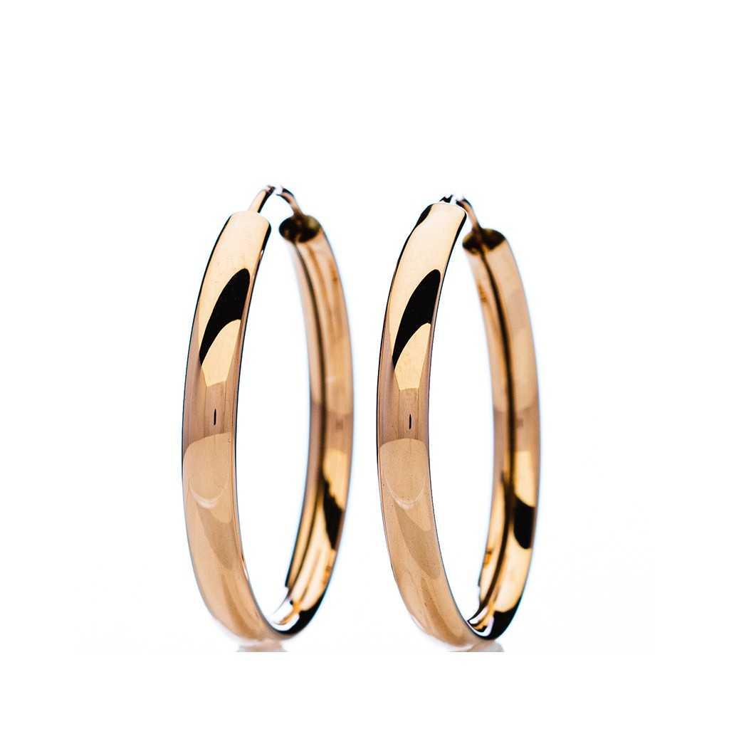 Auksiniai auskarai rinkutės 23mm - Auksiniai auskarai - Goldinga
