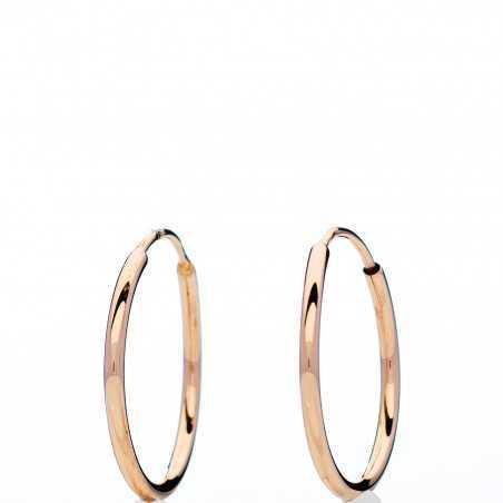 Auksiniai auskarai rinkutės 19mm - Auksiniai auskarai - Goldinga