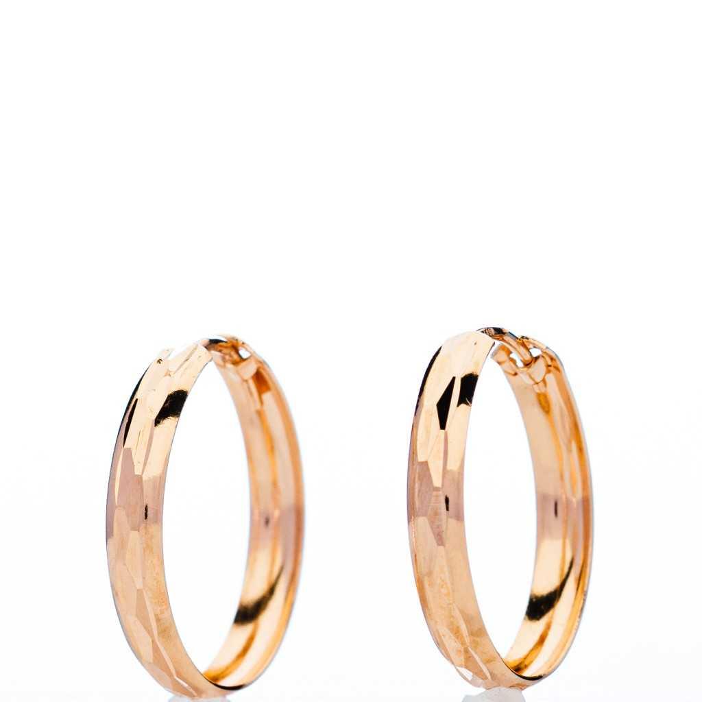 Auksiniai auskarai rinkutės 18mm - Auksiniai auskarai - Goldinga