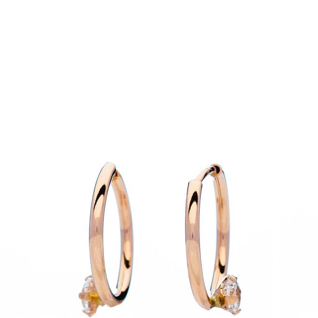 Auksiniai auskarai rinkutės 12mm - Auksiniai auskarai - Goldinga