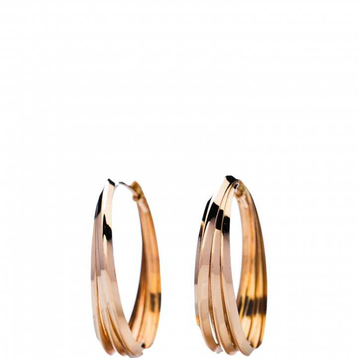 Auksiniai auskarai 25mm - Auksiniai auskarai - Goldinga