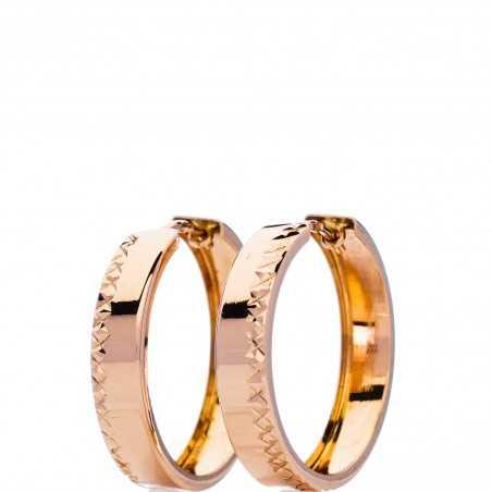 Auksiniai auskarai rinkutės 25mm - Auksiniai auskarai - Goldinga