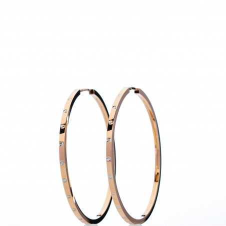 Auksiniai auskarai rinkutės 39mm - Auksiniai auskarai - Goldinga