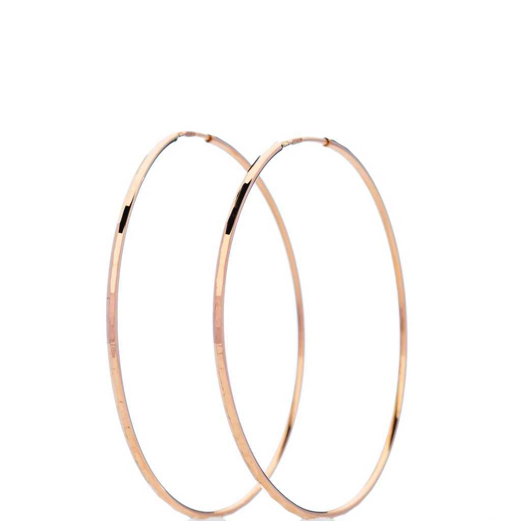 Auksiniai auskarai rinkutės 42mm - Auksiniai auskarai - Goldinga