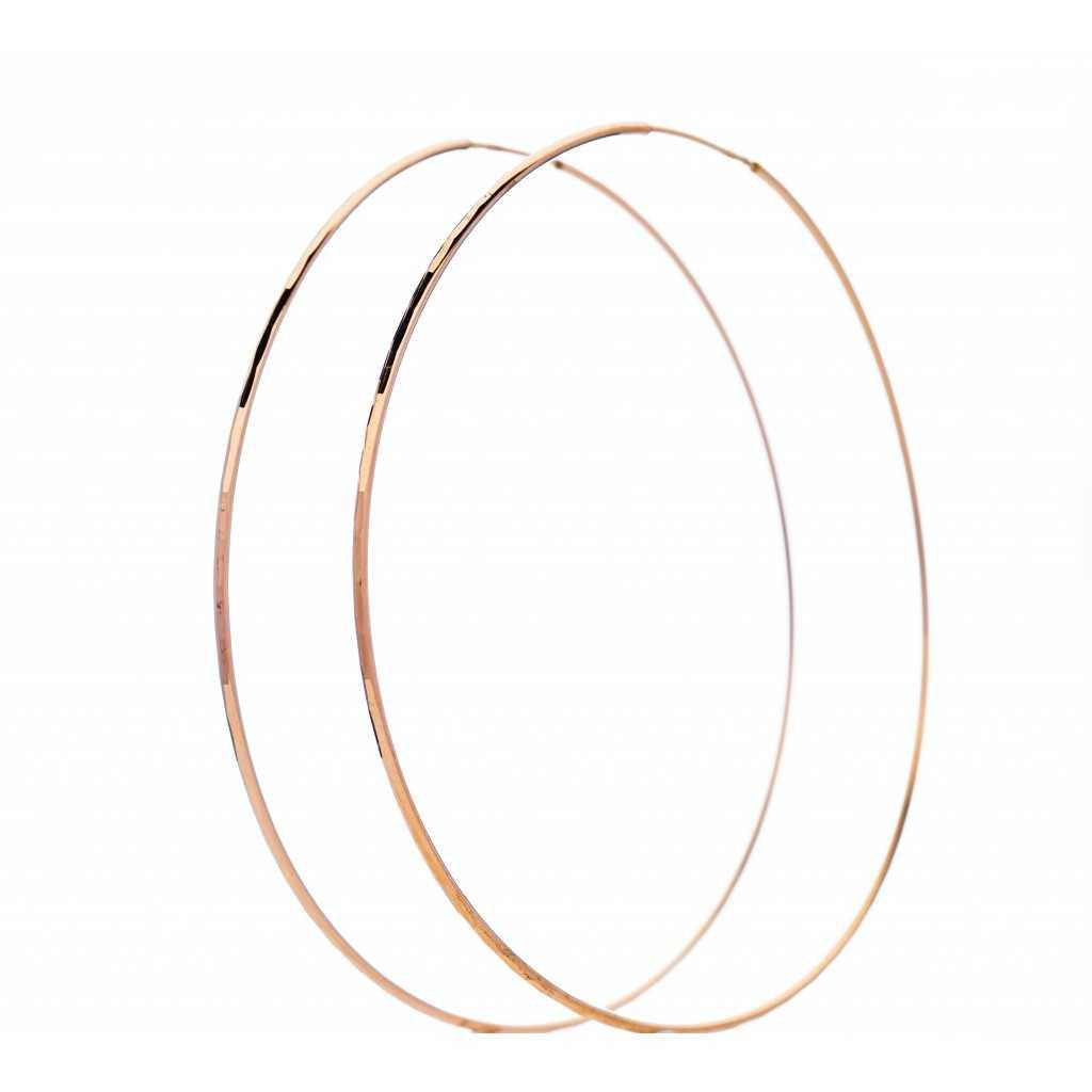 Auksiniai auskarai rinkutės 70mm - Auksiniai auskarai - Goldinga
