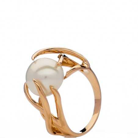 Auksinis žiedas su perlu - Auksiniai žiedai - Goldinga