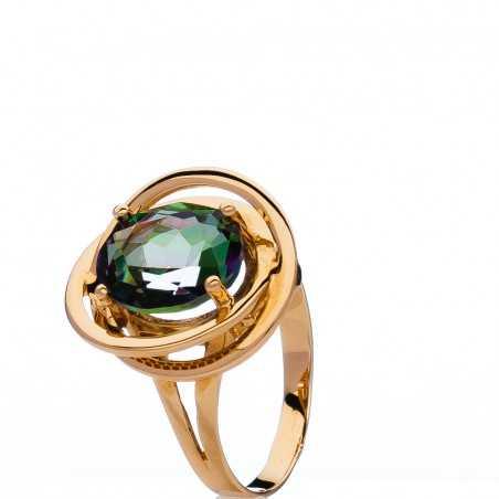 Auksinis žiedas su swarovski kristalu - Auksiniai žiedai - Goldinga