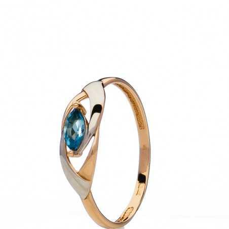 Auksinis žiedas su topazu - Auksiniai žiedai - Goldinga