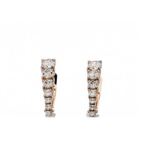 Auksiniai auskarai su swarovski kristalais - Auksiniai auskarai - Goldinga