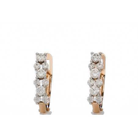 Auksiniais auskarai su cirkoniais - Auksiniai auskarai - Goldinga