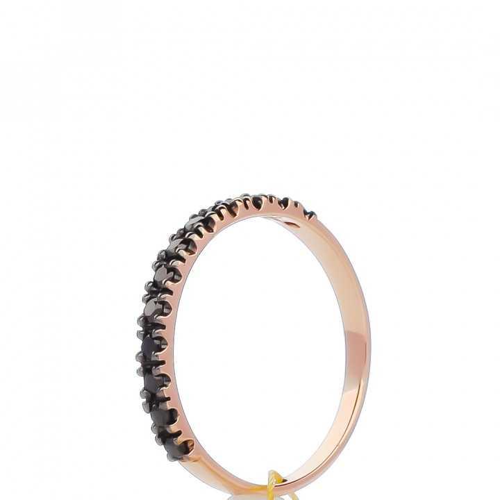Auksinis žiedas su juodaisiais deimantais - Auksiniai žiedai - Goldinga