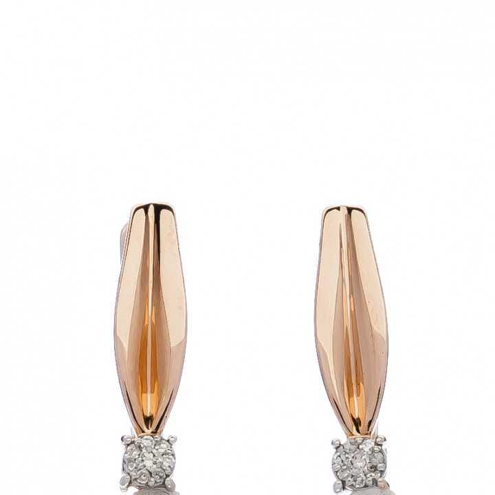 Auksiniai auskarai su deimantais - Auksiniai auskarai - Goldinga