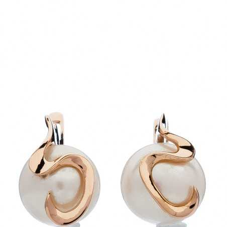 Auksiniai auskarai su perlu - Auksiniai auskarai - Goldinga