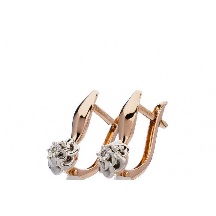 Auksiniai auskarai su deimantu - Auksiniai auskarai - Goldinga