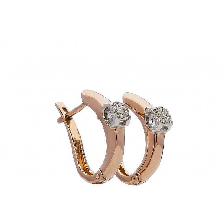 Auksiniai auskarai su briliantais - Auksiniai auskarai - Goldinga