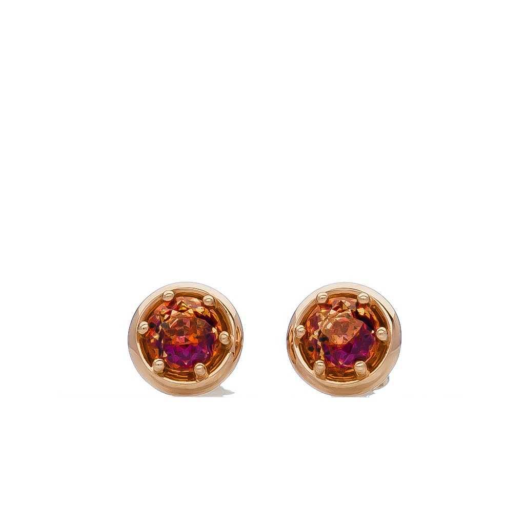 Auksiniai auskarai su Swarovski kristalu - Auksiniai auskarai - Goldinga