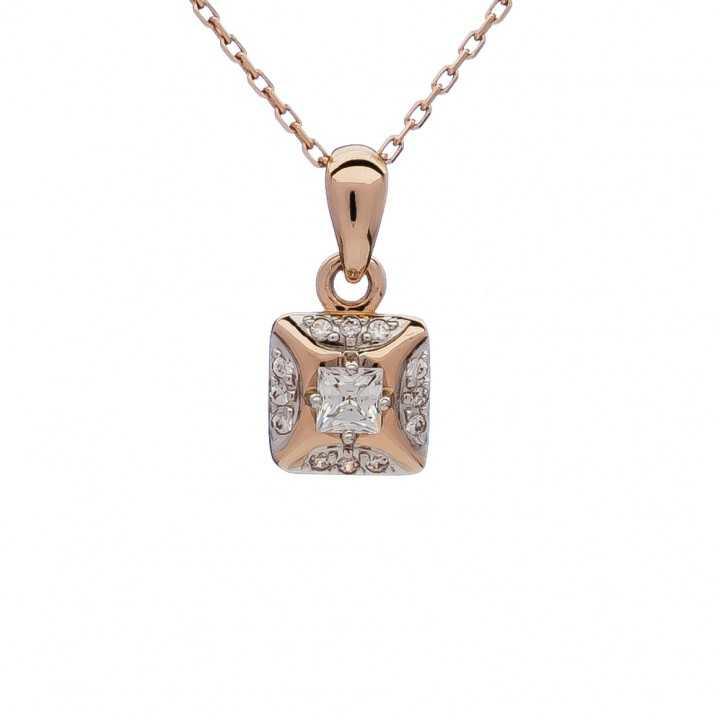 Auksinis pakabukas su Swarovski kristalais - Auksiniai pakabukai - Goldinga