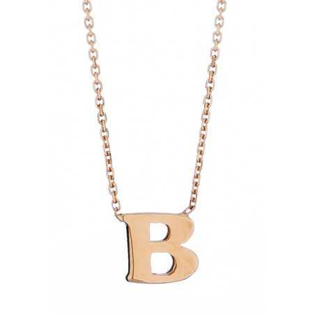 Auksinė grandinėlė su pakabuku raide B - Auksinės grandinėlės su pakabukais - Goldinga