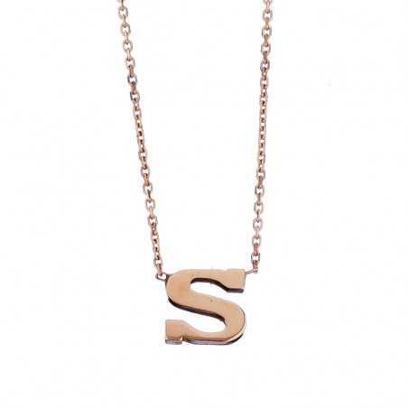 Auksinė grandinėlė su pakabuku raide S - Auksinės grandinėlės su pakabukais - Goldinga