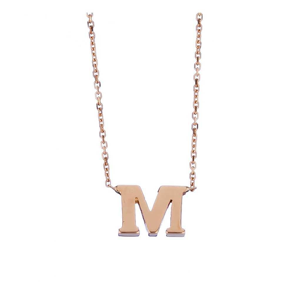 Auksinė grandinėlė su pakabuku raide M - Auksinės grandinėlės su pakabukais - Goldinga