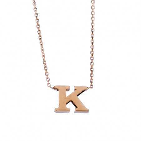 Auksinė grandinėlė su pakabuku raide K - Auksinės grandinėlės su pakabukais - Goldinga