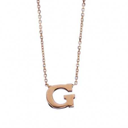 Auksinė grandinėlė su pakabuku raide G - Auksinės grandinėlės su pakabukais - Goldinga