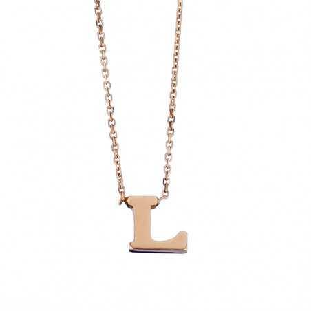 Auksinė grandinėlė su pakabuku raide L - Auksinės grandinėlės su pakabukais - Goldinga