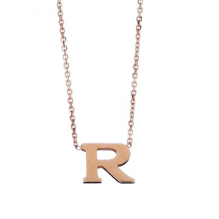 Auksinė grandinėlė su pakabuku raide R - Auksinės grandinėlės su pakabukais - Goldinga