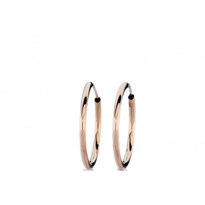 Auksiniai auskarai 25 mm - Auksiniai auskarai - Goldinga