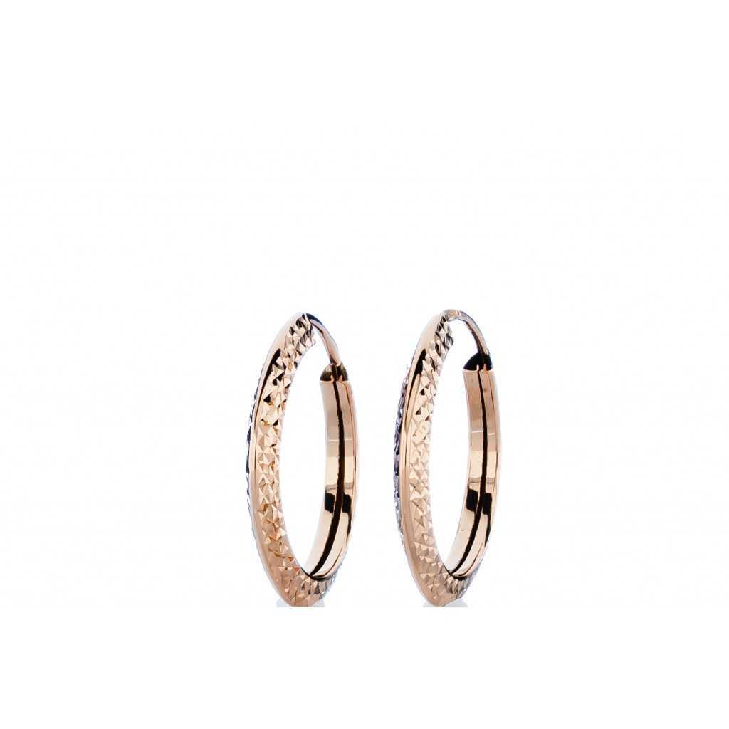 Auksiniai auskarai 20mm - Auksiniai auskarai - Goldinga