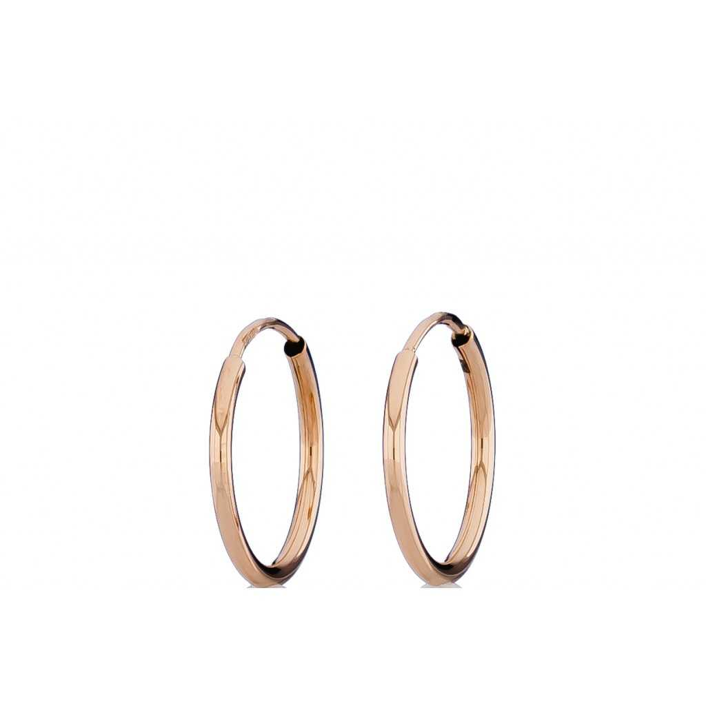 Auksiniai auskarai 16mm - Auksiniai auskarai - Goldinga