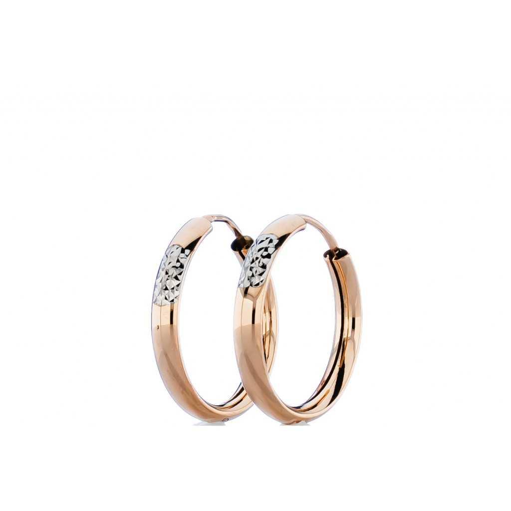 Auksiniai auskarai 19mm - Auksiniai auskarai - Goldinga