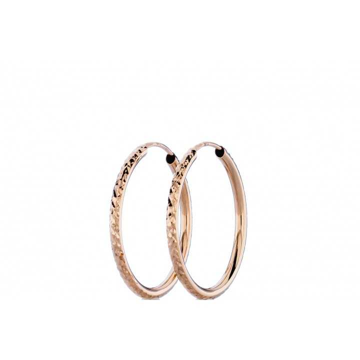 Auksiniai auskarai 24mm - Auksiniai auskarai - Goldinga