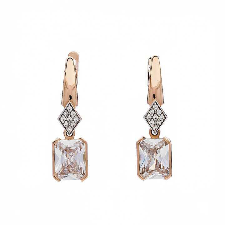 Auksiniai auskarai su cirkoniais - Auksiniai auskarai - Goldinga