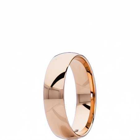 Auksinis vestuvinis žiedas 5mm su komfortu - Vestuviniai žiedai - Goldinga