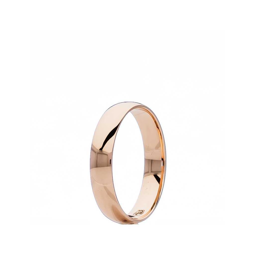 Auksinis vestuvinis žiedas 4mm su komfortu - Vestuviniai žiedai - Goldinga