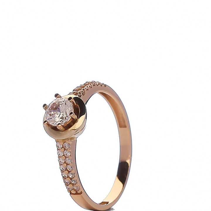 Auksinis žiedas su cirkoniu - Auksiniai žiedai - Goldinga