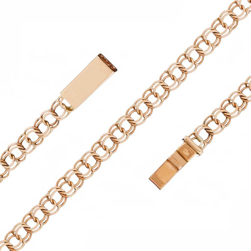 """Auksinė grandinėlė """"Bismark"""" 4.4mm - Auksinės grandinėlės - Goldinga"""