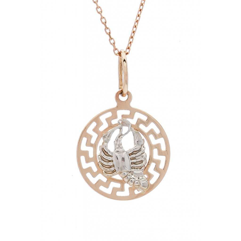 """Auksinis pakabukas """"Vėžys"""" - Zodiako ženklai - Goldinga"""