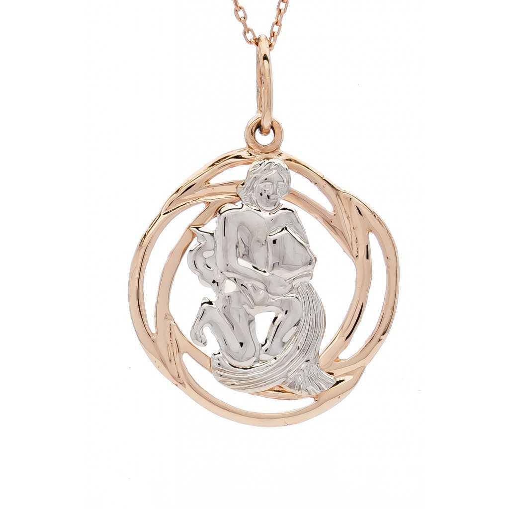"""Auksinis pakabukas """"Vandenis"""" - Zodiako ženklai - Goldinga"""