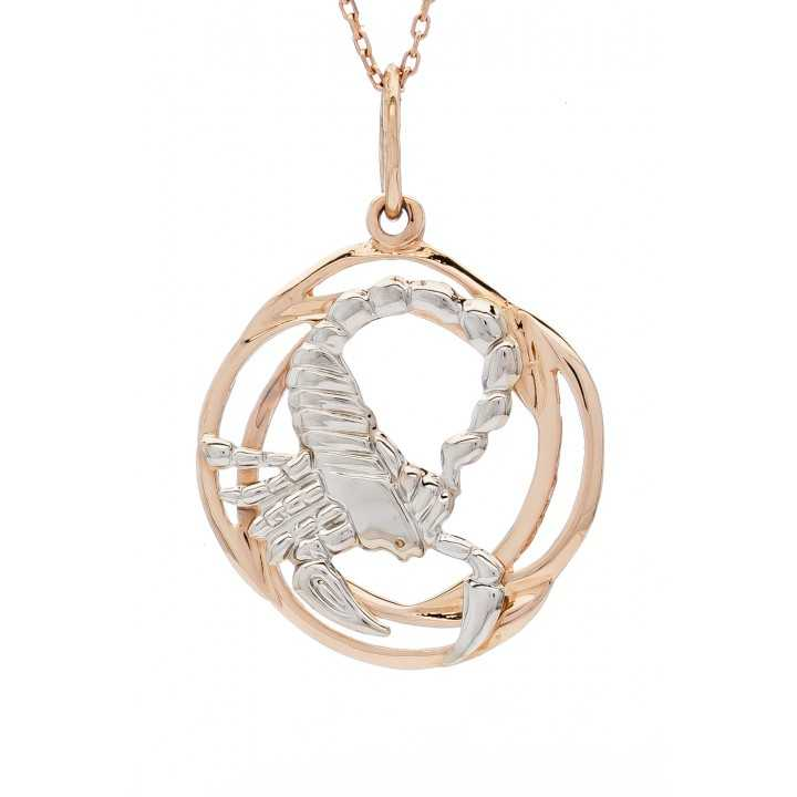 """Auksinis pakabukas """"Skorpionas"""" - Zodiako ženklai - Goldinga"""