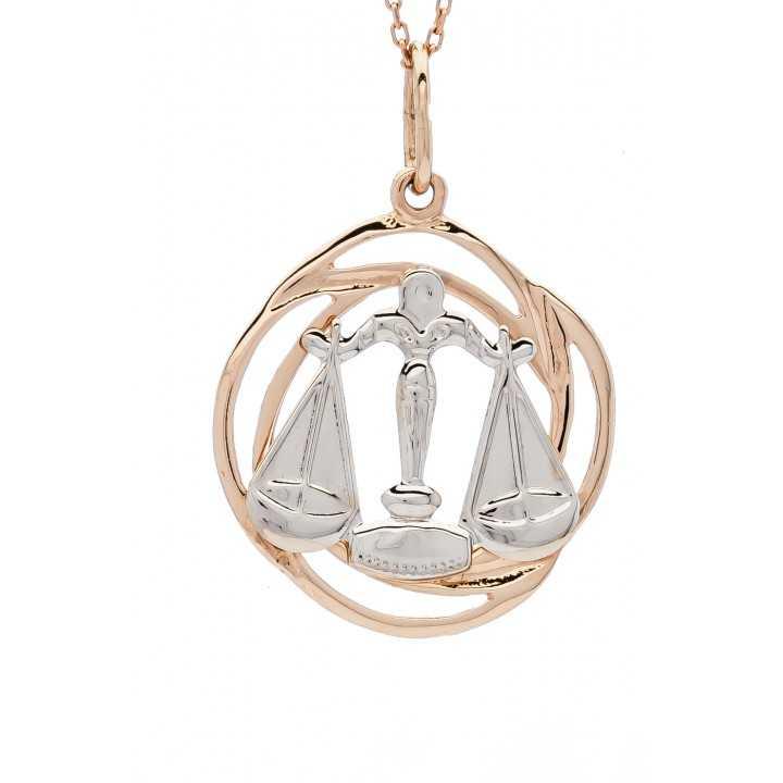 """Auksinis pakabukas """"Svarstyklės"""" - Zodiako ženklai - Goldinga"""