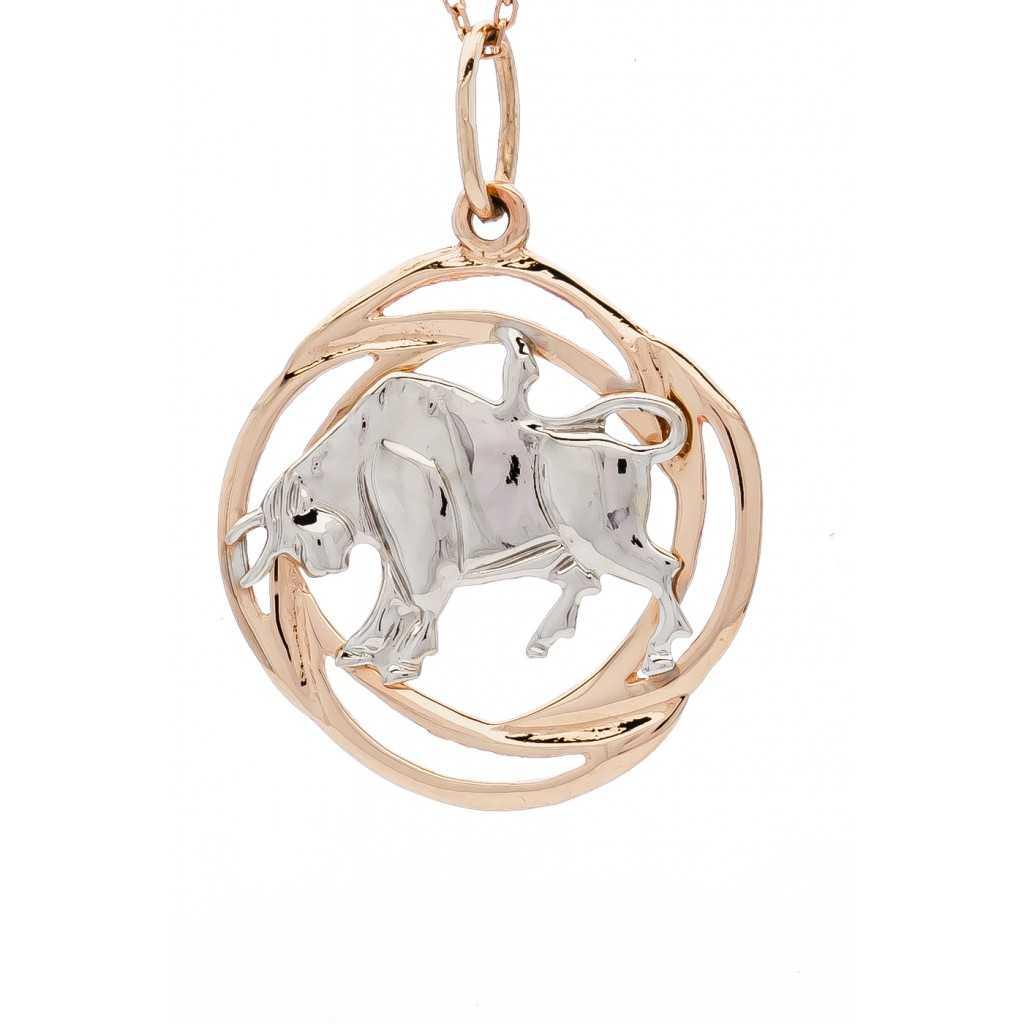 """Auksinis pakabukas """"Jautis"""" - Zodiako ženklai - Goldinga"""