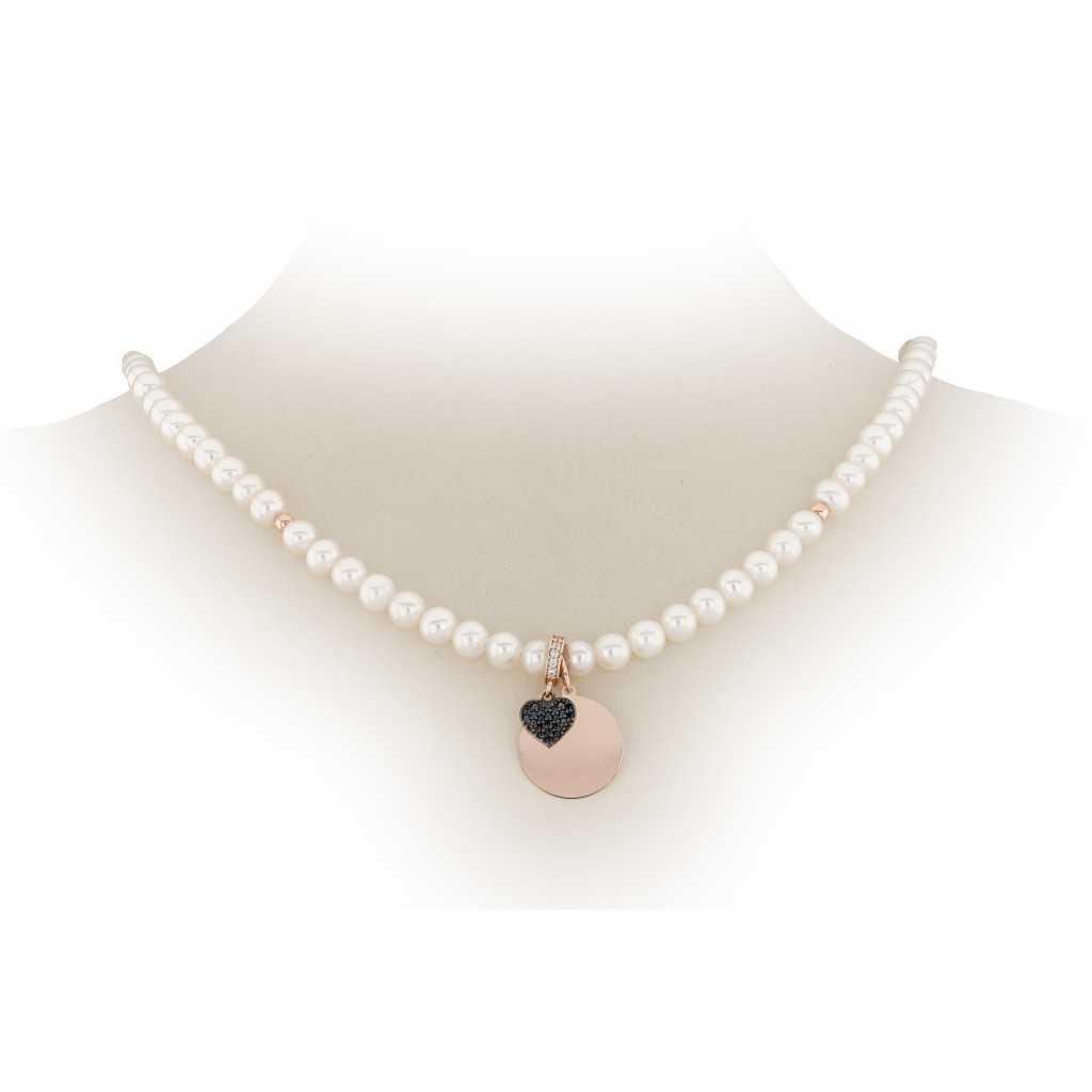 Perlų vėrinys su auksiniu pakabuku - Perlų vėriniai - Goldinga