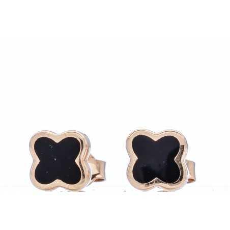 Auksiniai auskarai su emale - Auksiniai auskarai - Goldinga