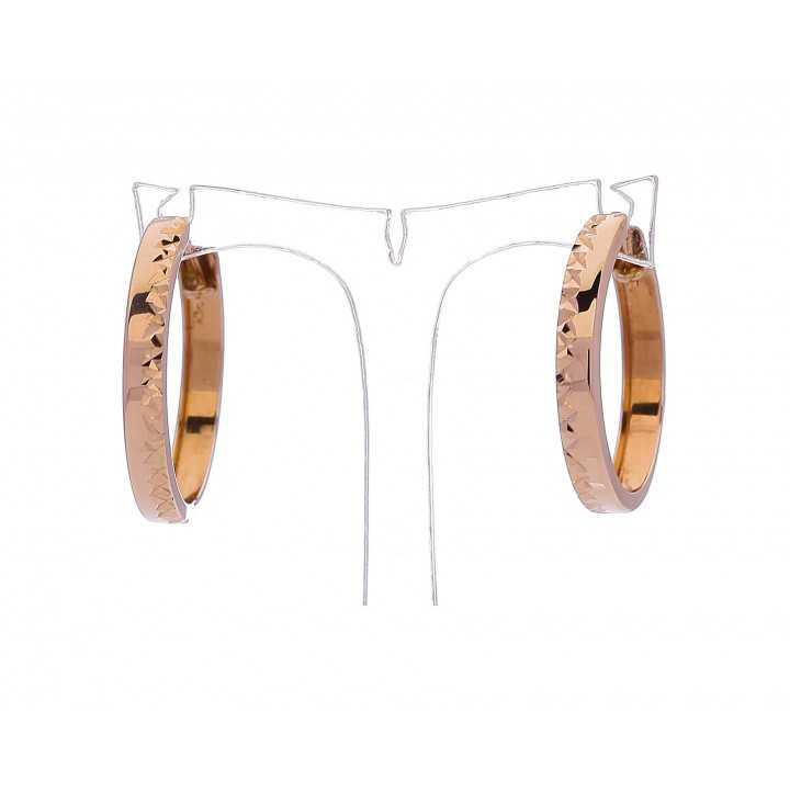 Auksiniai auskarai 30mm - Auksiniai auskarai - Goldinga