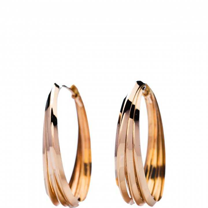 Auksiniai auskarai rinkutės 34mm - Auksiniai auskarai - Goldinga